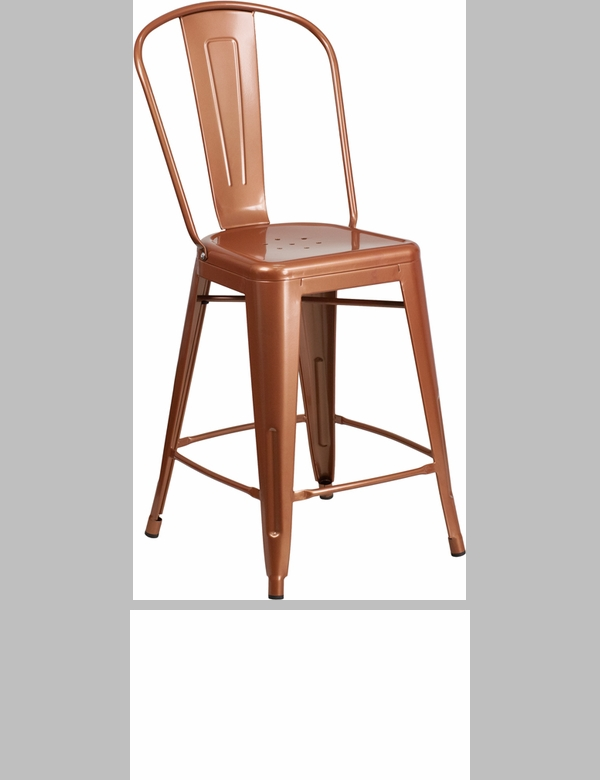 Copper Metal Indoor Outdoor Stackable Chair ET 3534 POC GG : 24 high copper metal indoor outdoor counter height stool with back et 3534 24 poc gg 10 from www.churchchairs4less.com size 600 x 780 jpeg 91kB