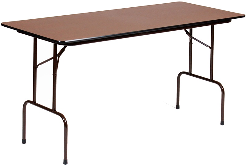 Counter Height Rectangular Melamine Top Folding Work Table - 72D x ...