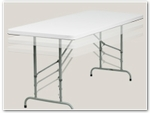Adjustable Height Folding Tables