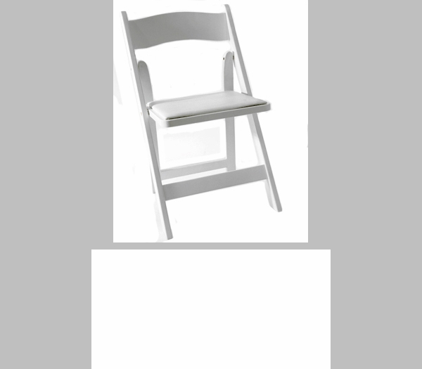 American Classic White Wood Folding Chair [A101 WOOD WHITE CSP]