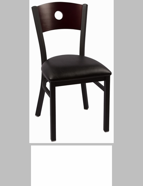 Liberty Series Wood Back Armless Chair With Steel Frame