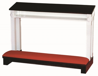 Red Oak Colonial Finish Double Prayer Desk with Upholstered Padded Kneeler [TPD-605DCOLONIAL-TRN]