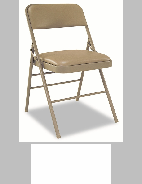 Cosco All Steel 4 Pack Folding Chair Antique Linen