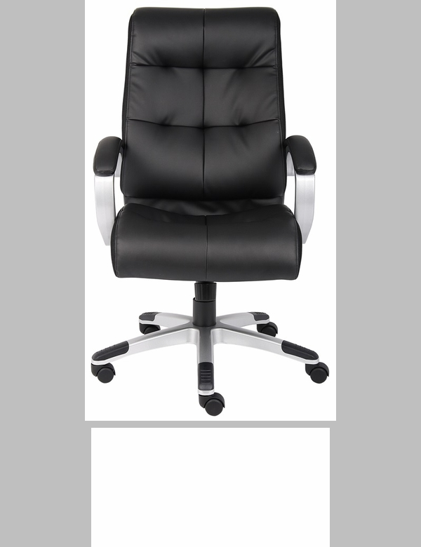 High Back Executive Leatherplus Chair With Padded Arms