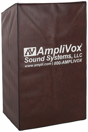 Durable Lectern Protective Cover - Brown - 27.5''W x 25''D x 45''H [S1972-FS-AMP]