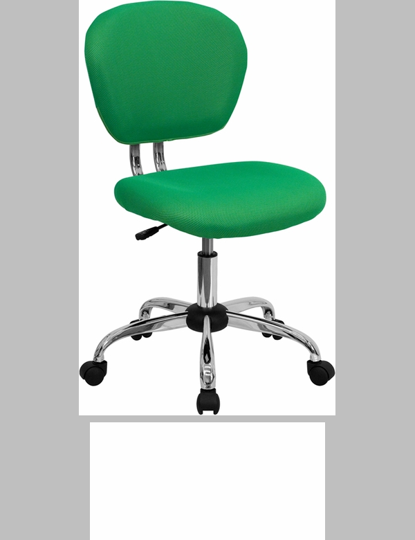 Mid Back Bright Green Mesh Swivel Task Chair With Chrome