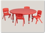 Round Preschool Table and Chair Sets