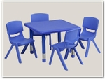 Square Preschool Table and Chair Sets
