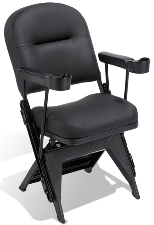 VIP Series Upholstered Seat and Back Folding Chair with Arms and Leg Covers [