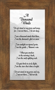 A Thousand Winds Sympathy Poem Frame (3.5X7) Gift for Memorial, Encouragement and Comfort in the Time of Bereavement