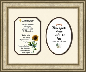 Always Near Sympathy Poem Photo Frame (8x10) Gift for Memorial, Encouragement and Comfort in the Time of Bereavement