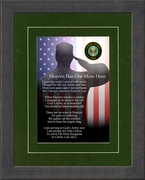 Military Memorial Army Gift for Sympathy and Condolence for Veterans or those who served in the Military