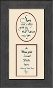 Boy, Son Child Memorial Sympathy Poem Photo Frame (3.5X7) Gift. Encouragement and Comfort in the Time of Bereavement.
