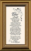 Broken Chain Poem Framed 3.5X7 Bereavement Gift showing Encouragement, Comfort, Condolence in Memorial and Sympathy.