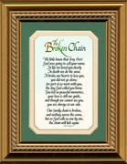 Broken Chain Poem Framed 5X7 Bereavement Gift showing Encouragement, Comfort, Condolence in Memorial and Sympathy.