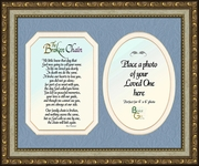 Broken Chain Poem Framed (8X10) Bereavement Gift showing Encouragement, Comfort, Condolence in Memorial and Sympathy.