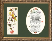 "Broken Chain Poem Framed 9"" X 11"