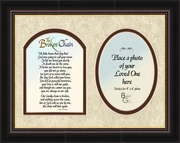 "Broken Chain Poem Memorial Photo Frame Gift 8"" X 10"""