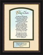 Broken Chain Poem Framed 6X8 Bereavement Gift showing Encouragement, Comfort, Condolence in Memorial and Sympathy.