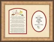Child Memorial Poem Words Photo Framed (9X12) Gift for Condolence, Encouragement and Comfort in the Time of Bereavement.