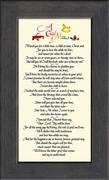 Child Memorial Sympathy Poem Frame (3.5X7) Gift. Encouragement and Comfort in the Time of Bereavement.