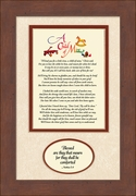 Child Memorial Sympathy Poem Frame (7X11) Gift.Scripture Encouragement and Comfort in the Time of Bereavement.