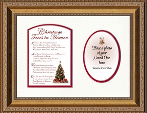 Christmas Trees In Heaven Christian Memorial Bereavement Poem Frame (9X12) Gift in Remembrance With words of Encouragement
