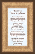 Christmas Trees In Heaven Christian Memorial Bereavement Poem Frame Gift