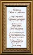 Christmas Trees In Heaven Christian Memorial Bereavement Poem Frame Gift in Remembrance With words of Encouragement