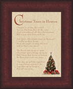 Christmas Trees In Heaven Christian Memorial Bereavement Poem 6X8 Frame Gift in Remembrance With words of Encouragement