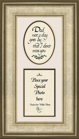 Father Memorial Words Photo Frame (3.5X7) Gift for Condolence, Encouragement and Comfort in the Time of Bereavement.