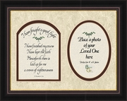 I have fought a good fight Scripture II Timothy 4:7,8a Sympathy Photo Frame (8X10) Gift To comfort in times of Grief, Condolence and Bereavement