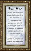 I知 Free Condolence Poem Frame (3.5X7) Gift for Memorial, Sympathy, Encouragement and Comfort in the Time of Bereavement