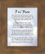 I知 Free Condolence Poem Frame (4X5) Gift for Memorial, Sympathy, Encouragement and Comfort in the Time of Bereavement