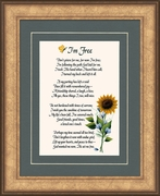 I知 Free Condolence Poem Frame (8X10) Gift for Memorial, Sympathy, Encouragement and Comfort in the Time of Bereavement