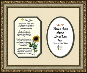 I'm Free Condolence Poem Photo Frame (8X10) Gift for Memorial, Sympathy, Encouragement and Comfort in the Time of Bereavement