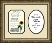 I知 Free Condolence Poem Photo Frame (8X10) Gift for Memorial, Sympathy, Encouragement and Comfort in the Time of Bereavement