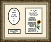 I知 Free Condolence Poem Photo Frame (8X10) Gift Scripture for Memorial, Sympathy, Encouragement and Comfort in the Time of Bereavement