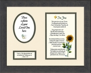 I知 Free Condolence Poem Photo Frame (8X10) Scripture Gift for Memorial, Sympathy, Encouragement and Comfort in the Time of Bereavement