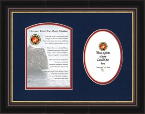 Military Memorial Marine Photo Gift for Sympathy and Condolence for Veterans or those who served in the Military