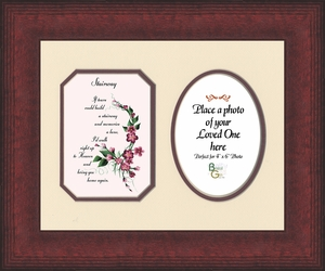 Stairway To Heaven Sympathy Poem Photo Frame (8X10) Gift for Memorial, Encouragement and Comfort in the Time of Bereavement