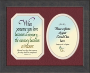 Memory a Treasure Sympathy Poem Photo Frame (8X10) Gift for Memorial, Encouragement and Comfort in the Time of Bereavement