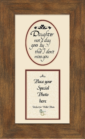 Girl, Daughter Child Memorial Sympathy Poem Photo Frame (3.5X7) Gift. Encouragement and Comfort in the Time of Bereavement