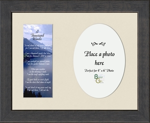 A Thousand Winds Sympathy Poem Photo Frame (7X9) Gift for Memorial, Encouragement and Comfort in the Time of Bereavement