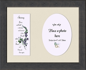 Stairway To Heaven Sympathy Poem Frame (7X9) Gift for Memorial, Encouragement and Comfort in the Time of Bereavement