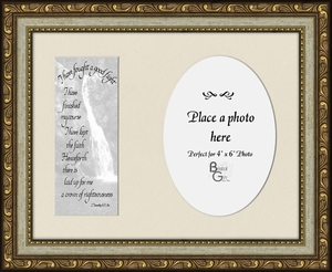 I have fought a good fight Scripture II Timothy 4:7,8a Sympathy Photo Frame(7X9) Gift To comfort in times of Grief, Condolence and Bereavement