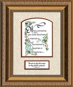 Memory a Treasure Sympathy Poem Frame (6X8) Gift Scripture for Memorial, Encouragement and Comfort in the Time of Bereavement