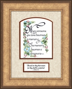Memory a Treasure Sympathy Poem Frame (6X8) Scripture Gift for Memorial, Encouragement and Comfort in the Time of Bereavement