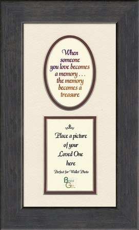 Memory a Treasure Sympathy Poem Photo Frame (3.5X7) Gift for Memorial, Encouragement and Comfort in the Time of Bereavement