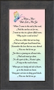 Miss Me Poem Sympathy Frame (3.5X7)  Gift of  Encouragement, Comfort, and Condolence in Memorial and Bereavement.